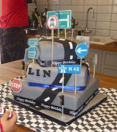Cars / road Cake
