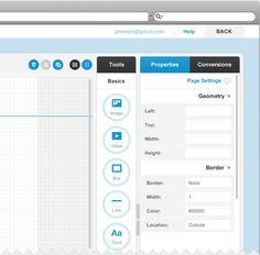 Online Editor. Lander App via Behance  http://techirsh.com