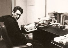 Paul Auster in his writing room