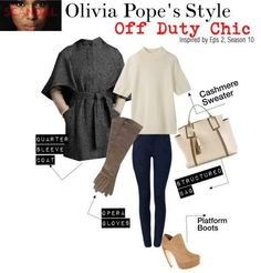 Olivia Pope's Casual Off Duty Look For Less.