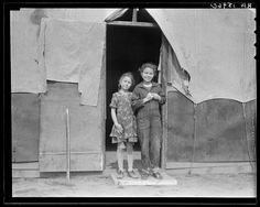 Migrant family in Kern County. This family was sent back at the state line by Los Angeles police. Refused entrance into California, and it w...