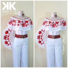 Mexican Fashion, Mexican Outfit, Mexican Dresses, Witch Fashion, Folk Fashion, Womens Fashion, Dama Dresses, Girls Dresses, Stylish Outfits