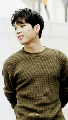 Woohyun - Oh my. that's a flattering sweater. I'd embarrass myself if I saw him wearing that in a work setting or something.