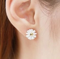Little Daisy Flowers Silver Earrings/Cute Earrings/Silver Earrings/Earrings Silver/Girl Earrings/Jewelry Earrings/Beautiful Earrings
