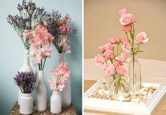 Ideias decoração romântica lar arranjo de flores