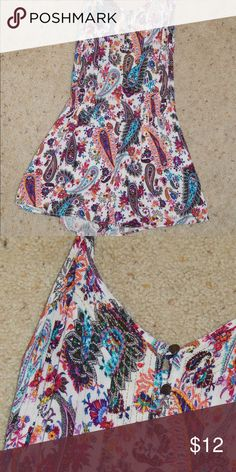 7f8d98dd40003f Paisley Romper viscose   polyester    thin straps American Eagle Outfitters  Tops Tank Tops