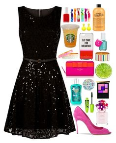"""""""Katt - $783.21"""" by shazellove ❤ liked on Polyvore featuring Mela Loves London, Essie, Kate Spade, ELLA, Casadei, Yves Saint Laurent, Accessorize, Marc Jacobs and Rimmel"""