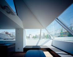 Grow is a minimal home located in Shinjuku-ku, Tokyo, designed by APOLLO Architects & Associates. This private residence was constructed on a 65 sqm site for a family in their mid 30s with three children. In cadence with APOLLO's past projects, the exterior is a beautifully minimal concrete monolith with an angled rooftop. (4)