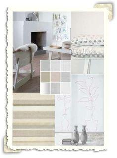 Interieur idee met de kleur wit en pastel tinten.