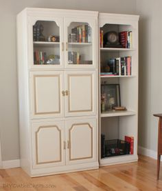 Furniture Makeover: Office Cabinet + Bookcase