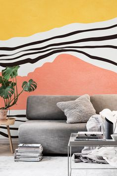 40 Genius and Creative decorating tutorials for you to make at home Mural Wall Art, Mural Painting, Home Wall Painting, Bedroom Murals, Creative Decor, Home Decor Inspiration, House Colors, Wall Design, Colorful Interiors