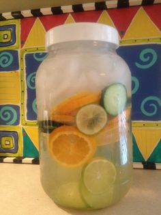 BODY FLUSH AND DETOX WATER refreshing! ( NEED 8 GLASSES OF H2O/day) Slice the following, add mint & cover with water and ice. Store in refrigerator. 1 cucumber,1 lemon,  oranges,limes,1 bunch of mint. Cucumbers act as a diuretic and flush fat cells. It is alkalizing to the body (if you have an alkaline body, no diseases can live there), and increase your energy levels. Limes promote a healthy digestive tract. Oranges Vitamin C Mint is a natural appetite suppressant that also aids in…