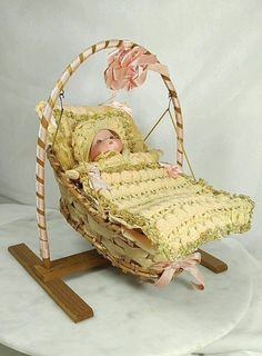 "Antique A.M Armand Marseille Dream Baby Bisque Doll Germany  Clothes 6½"" #AM"