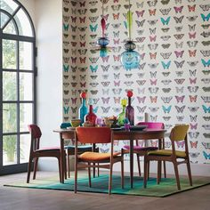 Buy Harlequin Wallpaper in Australia. Our removable, non-woven Harlequin Wallpaper styles range from contemporary, elegant, modern to classic. Harlequin Fabrics, Harlequin Wallpaper, Butterfly Wallpaper, Wallpaper Patterns, Fabric Wallpaper, Eclectic Kitchen, Boho Kitchen, Wallpaper Direct, Wallpaper Online