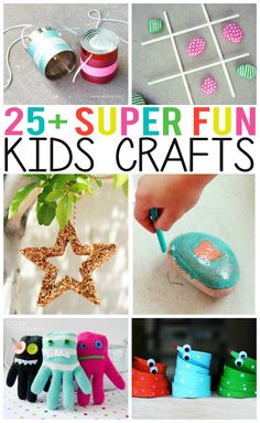 25+ Super Fun Kids Crafts - Great activity ideas for the kids this summer.