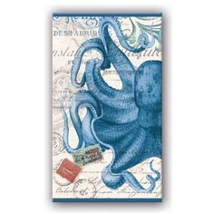 Octopus decorative boxed matches in reusaboe box. Great affordable hostess gift.  from MUSEUM OUTLETS. #octopus #bluematches  #decorativeboxedmatches