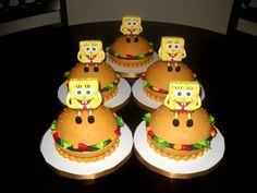 Spongebob Mini cakes!