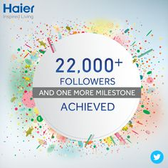 A big thanks to you all for your love, support and for helping us achieve this milestone! Stay connected with us @IndiaHaier on #Twitter for all the updates and contests