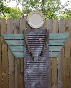 Garden angel from various repurposed items!