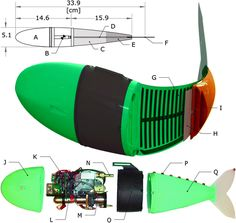 Autonomous Soft Robotic Fish Capable of Escape Maneuvers Using Fluidic Elastomer Actuators Robotics Engineering, Robotics Projects, Computer Engineering, Lego Design, Robot Design, Robot Wheels, Autonomous Robots, Robot Animal, Survival Skills