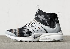 """The Nike Presto, described as the """"t-shirt for your feet"""", is looking to get a bit warmer for the winter season. Starting on November 3rd, Nike will offer up Pendleton fabrics in four different styles on the Nike Presto silhouette … Continue reading →"""