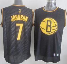 Nets  7 Joe Johnson Black Precious Metals Fashion Stitched NBA Jersey 3027d81c7