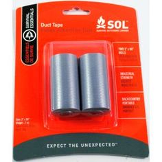Mini Roll Duct Tape (2 roll pack) J01-0730901-8200  3.96$