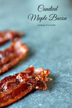 (Canada) Candied Maple Bacon - So easy to make, this candied bacon is maple flavoured. Sweet, and salty, it's sheer perfection. Bacon Recipes, Brunch Recipes, Appetizer Recipes, Breakfast Recipes, Cooking Recipes, Appetizers, Breakfast Ideas, Breakfast And Brunch, Candied Bacon