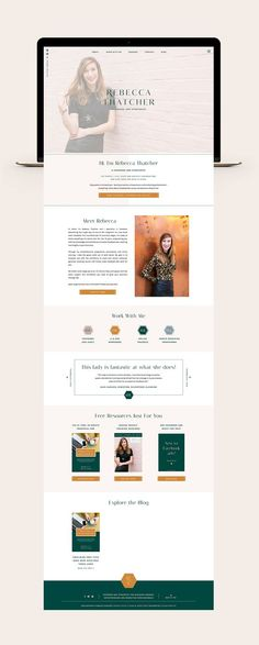 Brand and Website Launch for Rebecca Thatcher Design Websites, Web Design Trends, Web Design Quotes, Web Design Tips, Layout Design, Website Design Layout, Page Design, Design Design, Custom Design