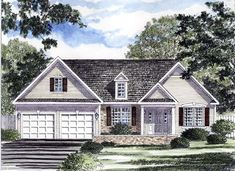 House Plan 94148 | Ranch   Traditional    Plan with 1663 Sq. Ft., 3 Bedrooms, 2 Bathrooms, 2 Car Garage