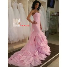 Prom Gown,Pink Prom Dresses,Evening Gowns,Mermaid Formal Dresses,Pink Prom