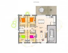 Plan achat maison neuve à construire - Maisons Open 4CH PPGI NORD Tiny House, House Plans, Sweet Home, Manon, Floor Plans, Construction, Flooring, How To Plan, Architecture