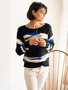 Anegada Sweater Black by thomas sires for Of a Kind