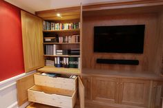 example of Oak filing cabinet created by Stange Kraft Bespoke Kitchens, Wall Units, Office Storage, Wooden Kitchen, Filing Cabinet, The Unit, Furniture, Home Decor, Timber Kitchen