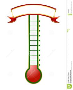 Goal setting thermometer template google search for Charity thermometer template