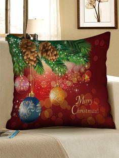 61ed06f7b6c Merry Christmas Snowflake Pattern Decorative Linen Pillowcase - multicolor  W17.5 INCH   L17.5 INCH