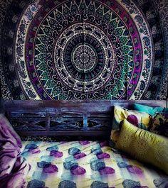 Boho Bohemian Bedspread Beach Blanket Wall Tapestry