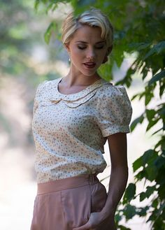 Double Collar Floral Top | Affordable Boutique Clothes | Trendy Modest Clothing