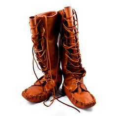 Leather Knee High Moccasin Boots~I will make these! can't wait for my book on making these to come in!!