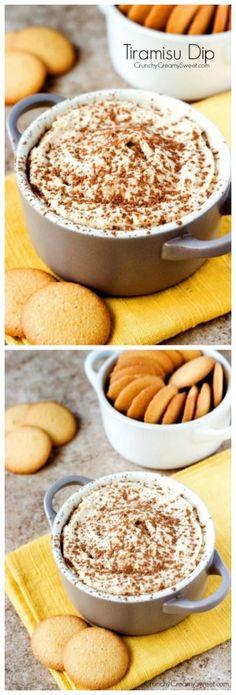 Tiramisu Dip -     8oz soft cream cheese, 3/4 cup ricotta cheese,  1  1/2 tsp vanilla,1/2 cup powdered sugar, 1/2 tsp instant coffee granules, 2 tsp cocoa powder, vanilla wafers for dipping+