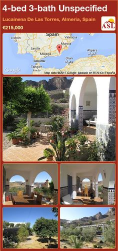 Unspecified for Sale in Lucainena De Las Torres, Almeria, Spain with 4 bedrooms, 3 bathrooms - A Spanish Life Murcia, Valencia, Detached Garage, Entrance Hall, Large Windows, Front Porch, Blinds, Farmhouse, Bathroom