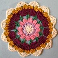 Crochet Mandala Wheel made by Joy, Isle of Wight, for yarndale.co.uk