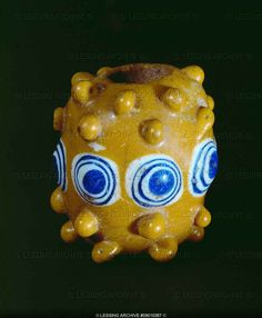 Multicoloured glass bead (5th BCE) from Vicenice, district Klatovy, Bohemia.