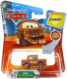 Disney Pixar Cars Fred with Fallen Bumper 1:55 CHASE Die-cast Vehicle by Mattel. $19.99. Character: FRED. 1:55 Scale Die-Cast. Disney Pixar CARS. CHASE Limited Edition. New in Package. New/Sealed Disney Pixar CARS 1:55 Scale Die-Cast Vehicle
