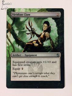 Viridian Claw - Full Art - MTG Alter - Revelen's Light Altered Art Magic Card