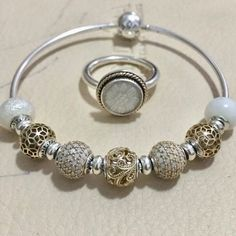 Pandora Gold, Pandora Rings, Pandora Jewelry, Bling Jewelry, Jewelry Accessories, Women Jewelry, Ladies Jewelry, Jewlery, Pandora Style Charms