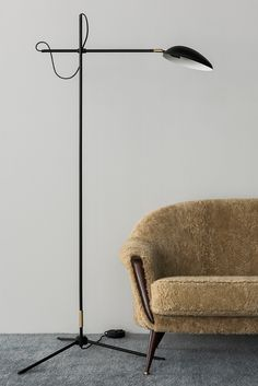 Create tension in your room with the elegant Spoon Floor lamp. It is part of the Spoon series that includes a ceiling lamp, floor lamp and table lamp, all created by the famous Swedish interior design Swedish Interior Design, Swedish Interiors, Interior Lighting, Lighting Design, Scandinavian Floor Lamps, Retro Floor Lamps, Ceiling Lamp, Ceiling Lights, Design Projects