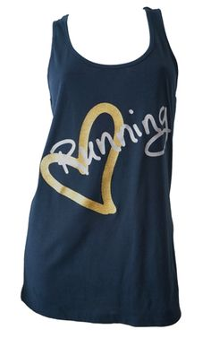 Running Inspired Apparel by Endure Endure Love Running Tank Navy #runner #gifts #top