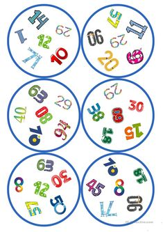 Games in German lessons: Dobble - numbers cards / 6 symbols), Double Game, Handout, Big Data Technologies, Decorative Soaps, Chinese Words, Numbers, Kids Rugs, Teaching, Games