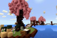 Would'nt it be nice if theres a Cherry Blossom park in Minecraft so i did one ya… – Garden Projects Minecraft Park, Minecraft Garden, Minecraft School, Minecraft Fan Art, Minecraft Houses, Minecraft Creations, Minecraft Designs, Cherry Blossom Tree, Blossom Trees